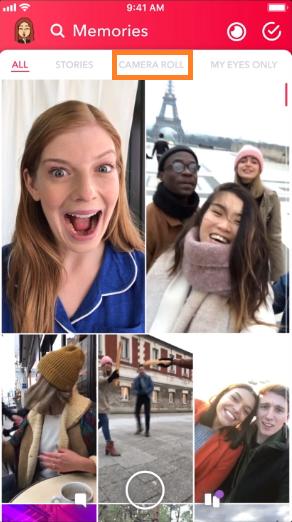 Snapchat camera role