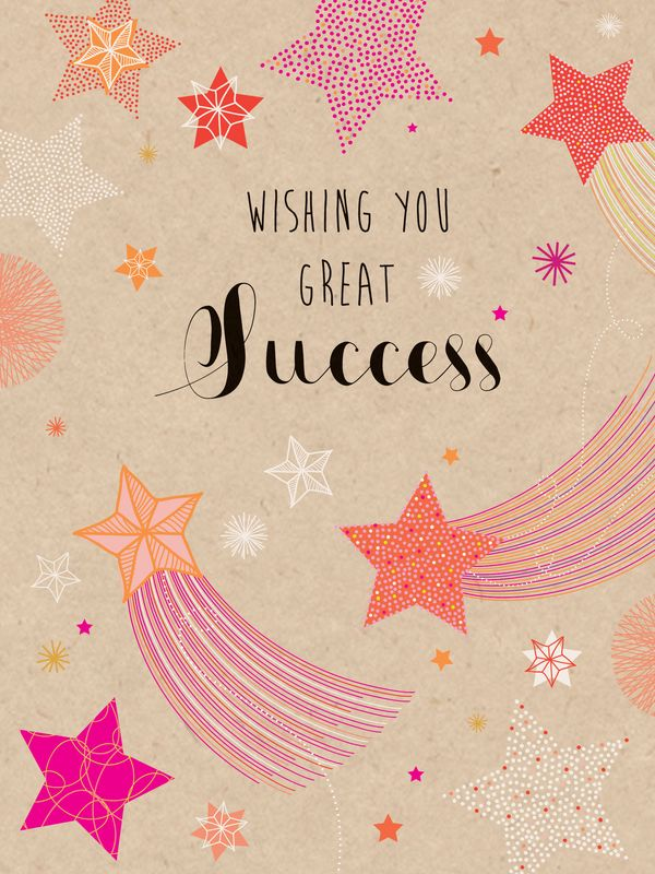 Birthday cards wishes with success