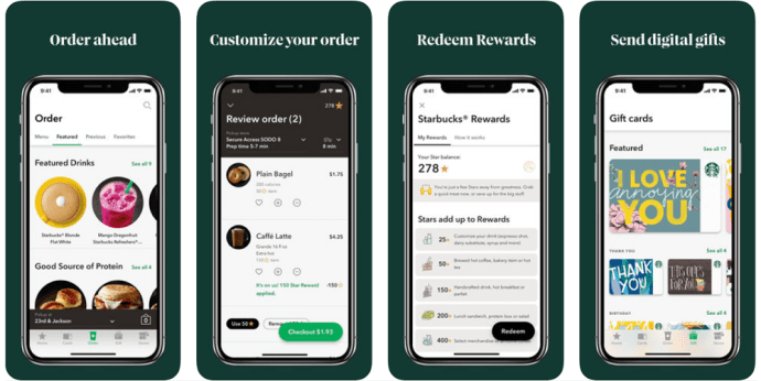 View the balance of the Starbucks gift card on the iPhone