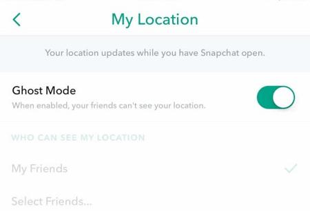 Verschwinde auf der Snapchat Map
