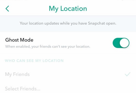 Disappear on Snapchat card