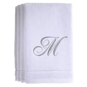 Extra Absorbent 100% Cotton Monogrammed Towels