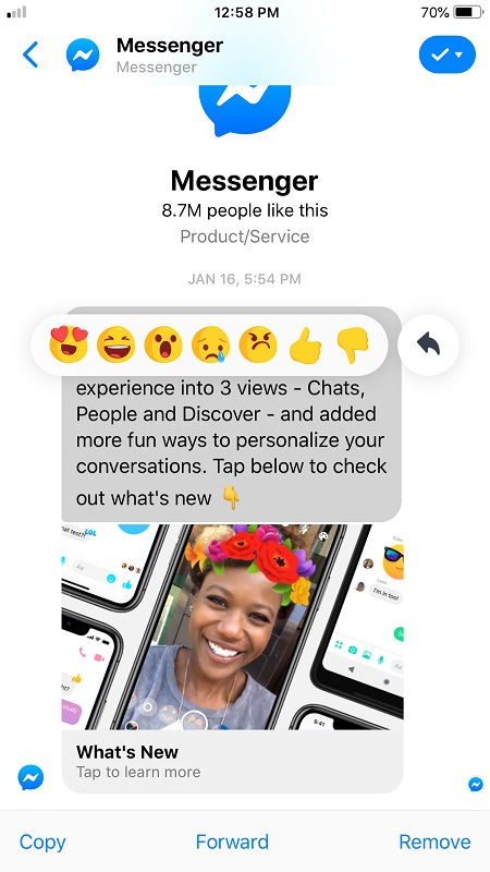 Send Facebook messages