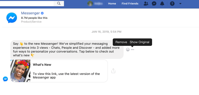 How to send a message to Facebook