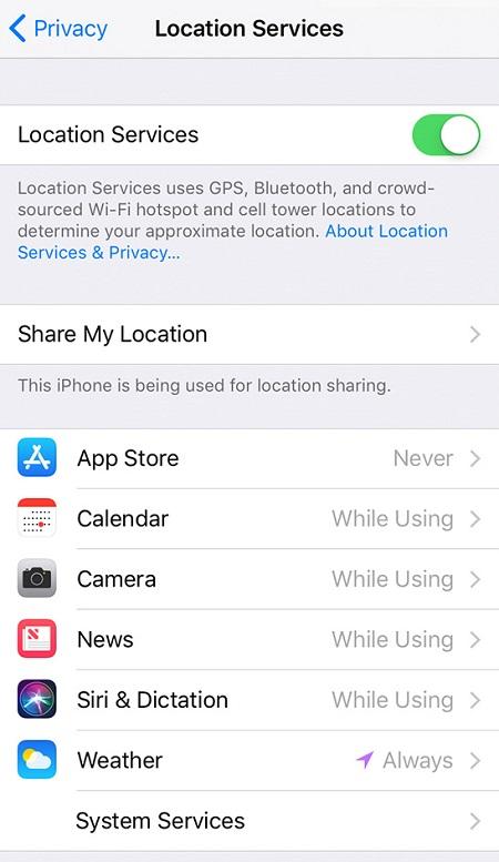 Evitar que el iPhone sea rastreado