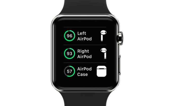 apple watch airpods battery life case