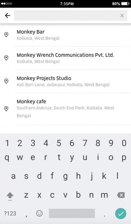 change uber location