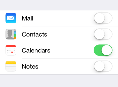 how to sync calendars with iphone