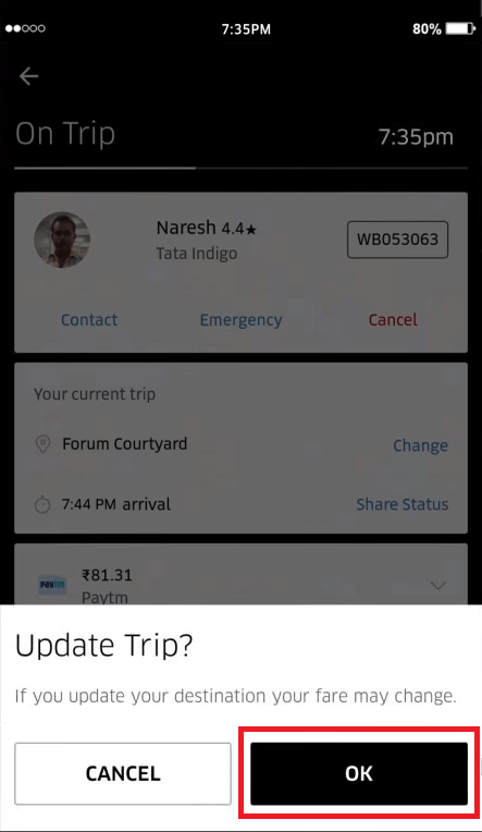 location in uber