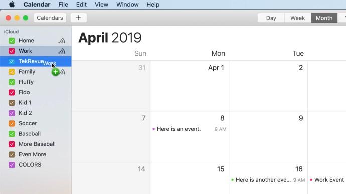 merge icloud calendars drag