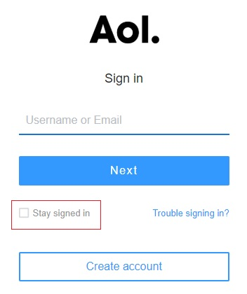 stop aol automatic sign in