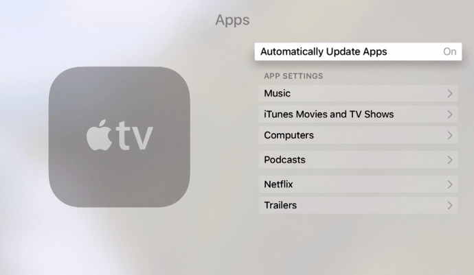 Apple TV How to Update Apps