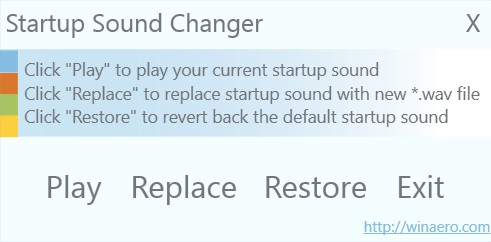 Change Startup Sound in Windows 10
