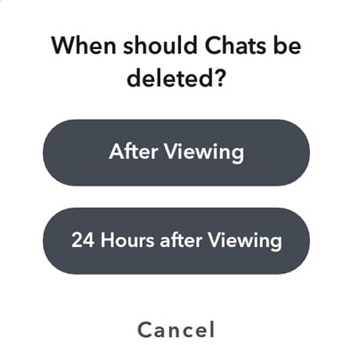 Change When a Message Expire on Snapchat