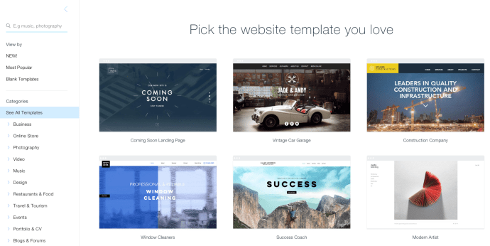 Change Wix Template