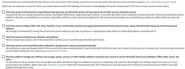 Permanently delete your Hotmail account