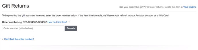 Does Amazon notify you when gifts are returned?