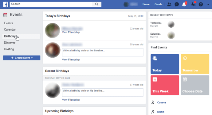 How to See Friends Birthdays on Facebook
