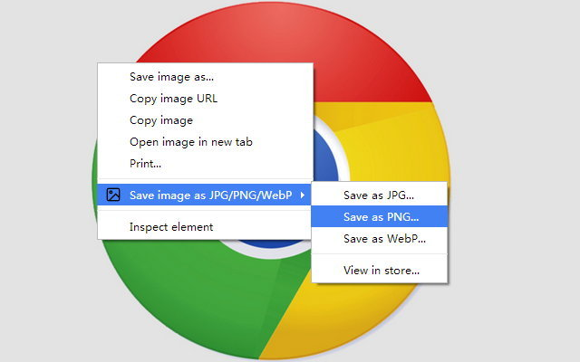 Save image as type