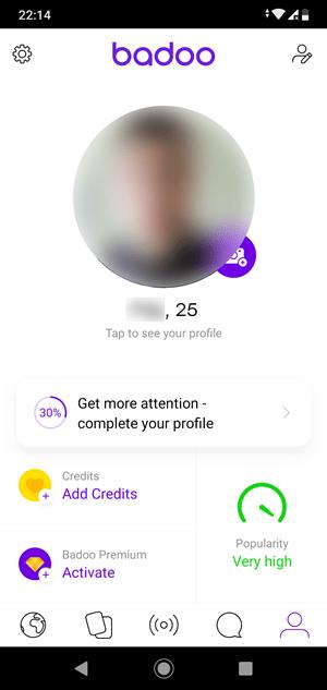 Badoo profile
