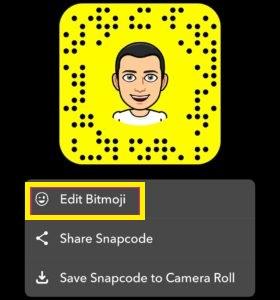 удалить стикеры в Snapchat