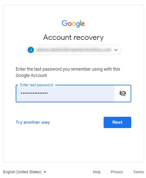 google password