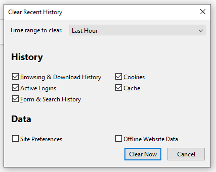 how to delete browsing history on Firefox