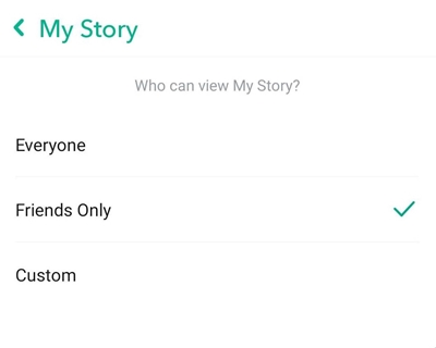 how to make private story on snapchat
