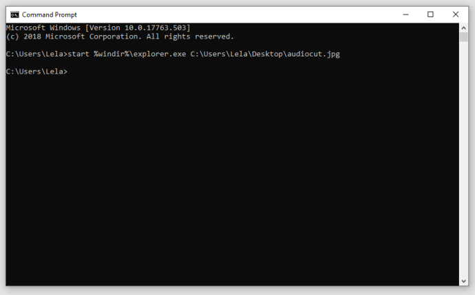 how to open file in cmd