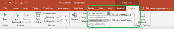 powerpoint auto playback