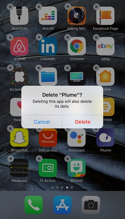 see recently deleted apps on iphone