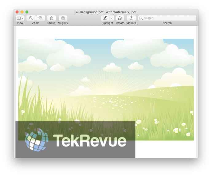 watermark pdf mac