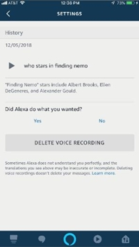 Delete Recordings via Alexa