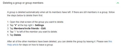 Aplicación de línea - Cómo patear o arrancar a alguien de un grupo