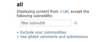 Old Site Filter Reddits Search