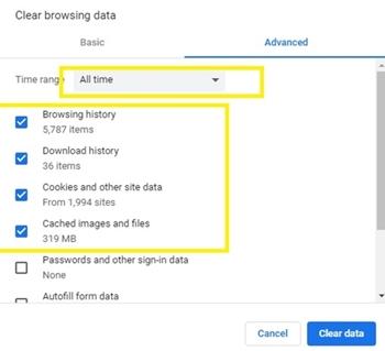 browsing data