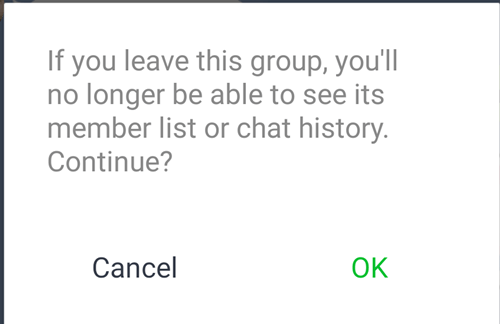 Leave the group