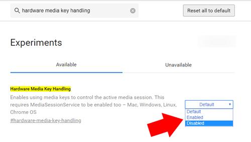 media keys disable