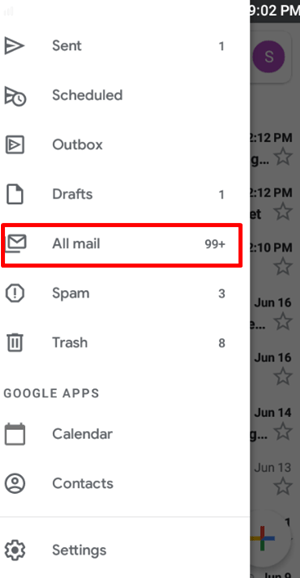 cell phone all mail