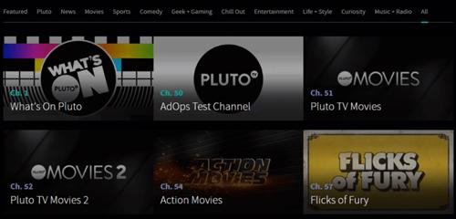 Pluto categories