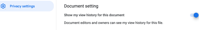 turn google doc view history off