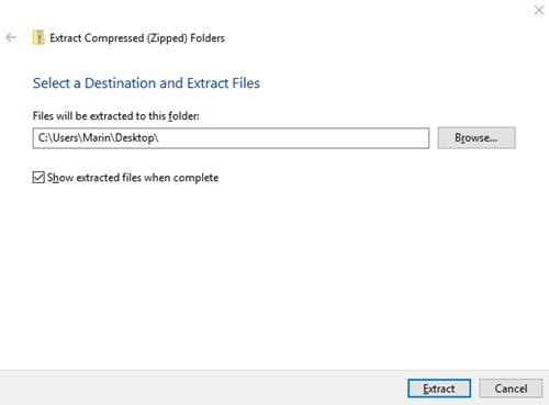 Extract Folder