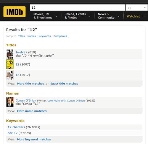 IMDb example