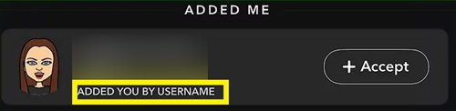 added you by username
