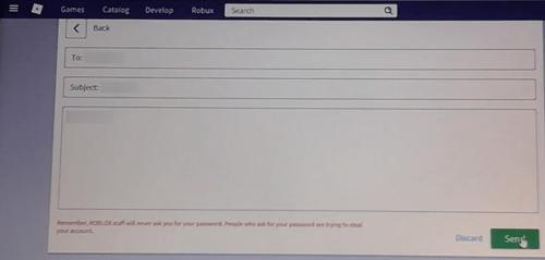 roblox send message