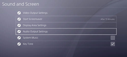 Audio Output Settings