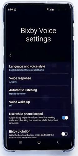 Bixby Voice Settings