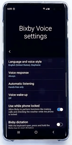 Bixby Voice Settings