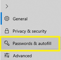 password and autofill