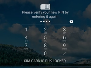 unlock sim new pin verify